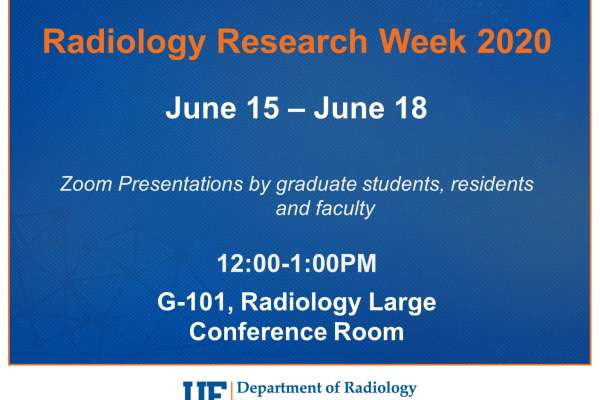 Research Week will be held June 15-18 at noon via Zoom.