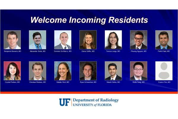 Headshots of the fourteen incoming radiology residents