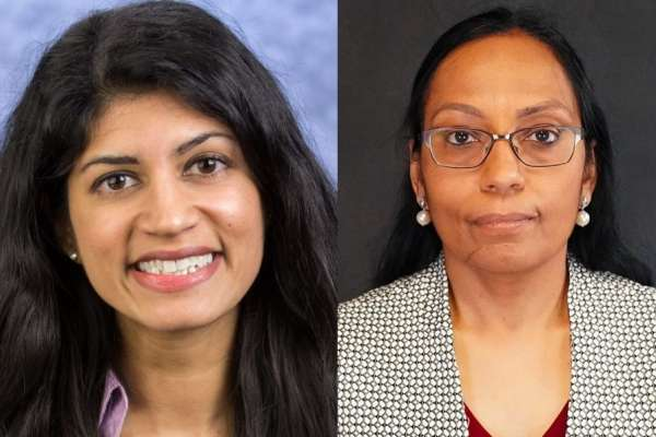 Headshots of Doctors Priya Sharma and Dhanashree Rajderkar