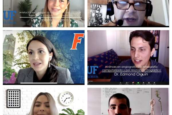 Screenshot of zoom presenters from symposium