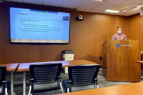 Doctor Parker Merritt presents at Research Week 2020