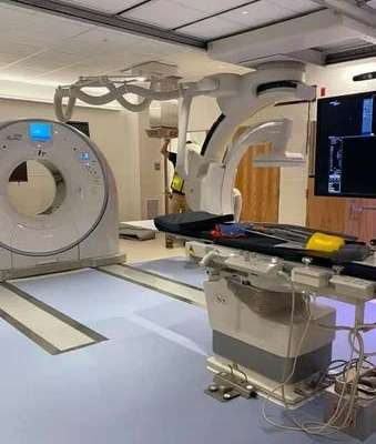 The new Alphenix 4D CT scanner.