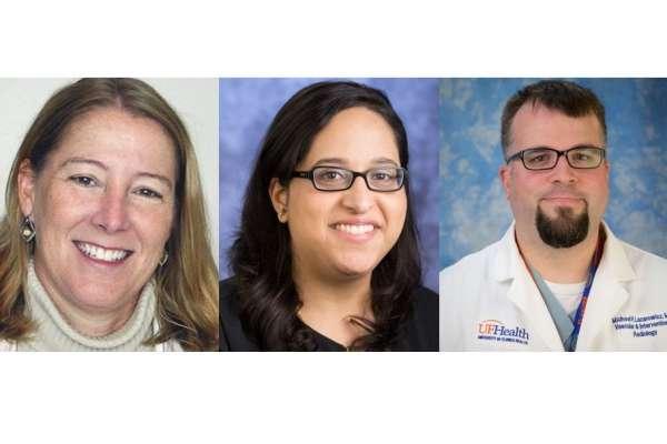 Headshots of doctors Marshall, Hanna, and Lazarowicz