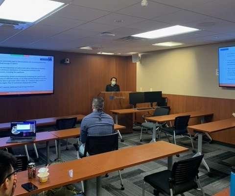 Graduate student Anahita Heshmat presents at research week