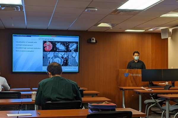 Resident Edmond Olguin presents at research week