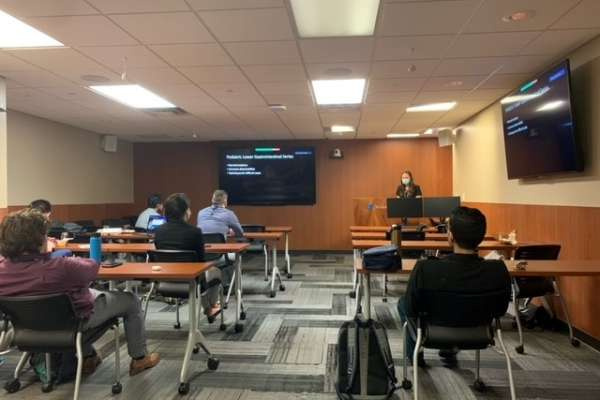 Resident Natalie Rich presents at research week